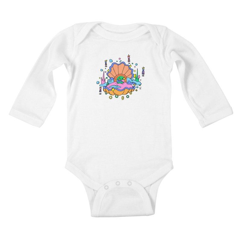 Atlantis Kids Baby Longsleeve Bodysuit by Shelby Works