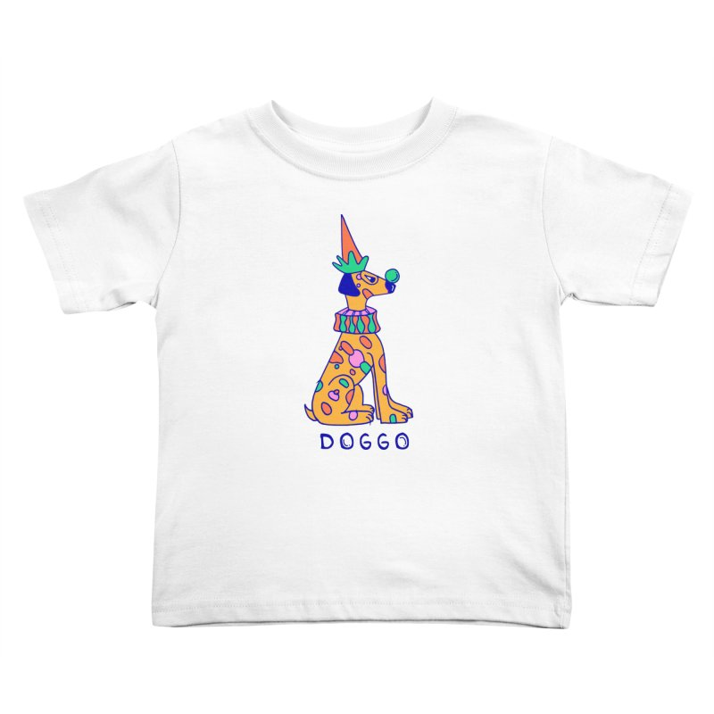 Doggo in Color Kids Toddler T-Shirt by Shelby Works