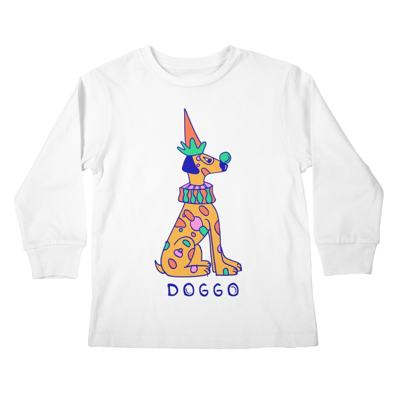 Doggo in Color Kids Longsleeve T-Shirt by Shelby Works