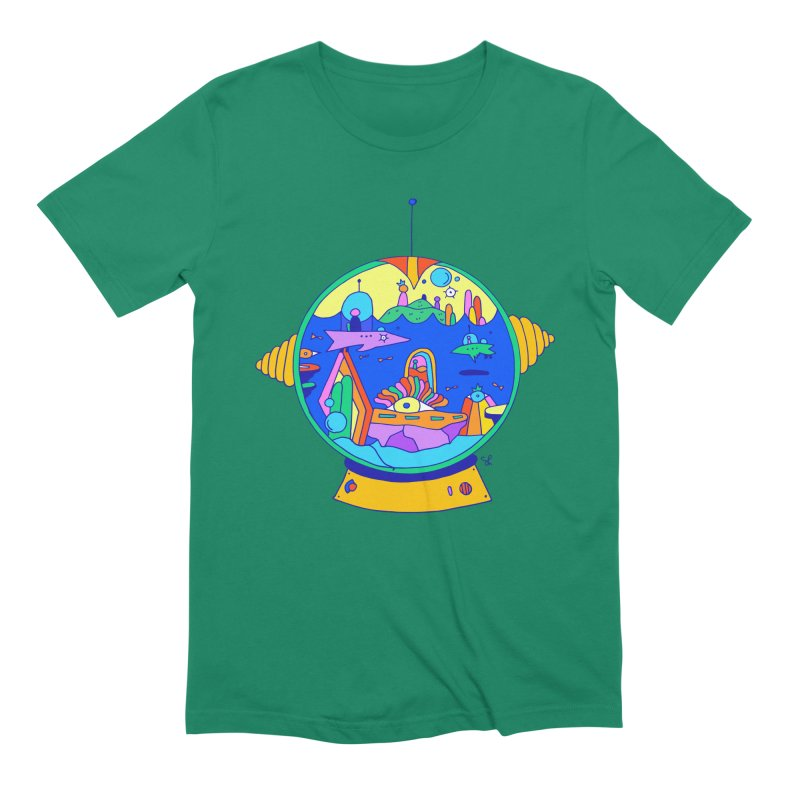 Scuba Diver on Vacation Men's Extra Soft T-Shirt by Shelby Works