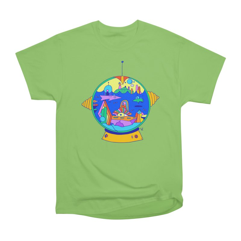 Scuba Diver on Vacation Men's Heavyweight T-Shirt by Shelby Works