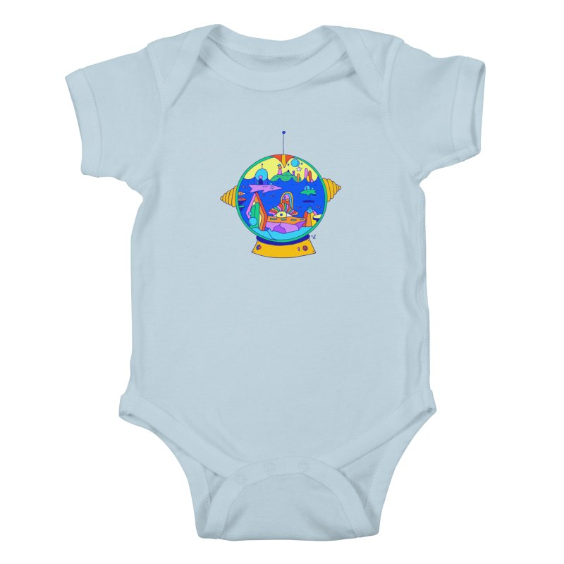 Scuba Diver on Vacation Kids Baby Bodysuit by Shelby Works