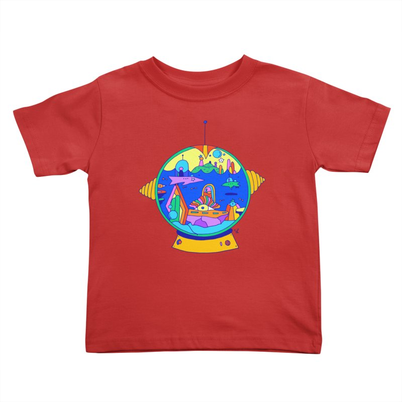 Scuba Diver on Vacation Kids Toddler T-Shirt by Shelby Works