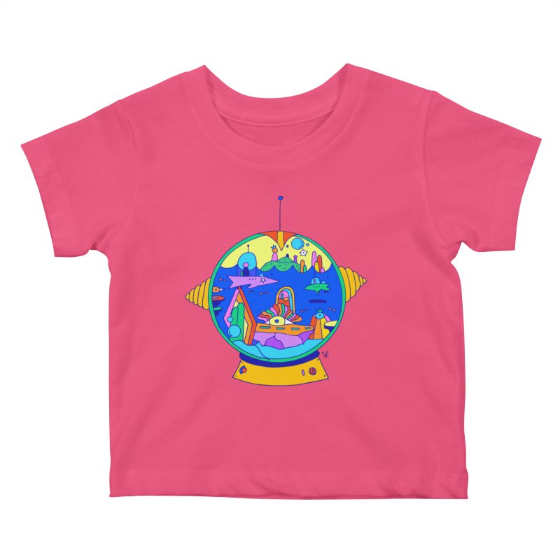 Scuba Diver on Vacation Kids Baby T-Shirt by Shelby Works