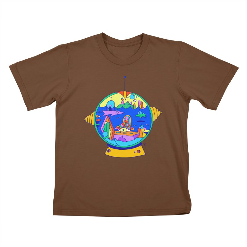 Scuba Diver on Vacation Kids T-Shirt by Shelby Works