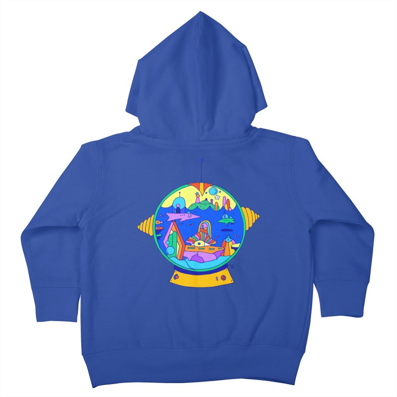 Scuba Diver on Vacation Kids Toddler Zip-Up Hoody by Shelby Works