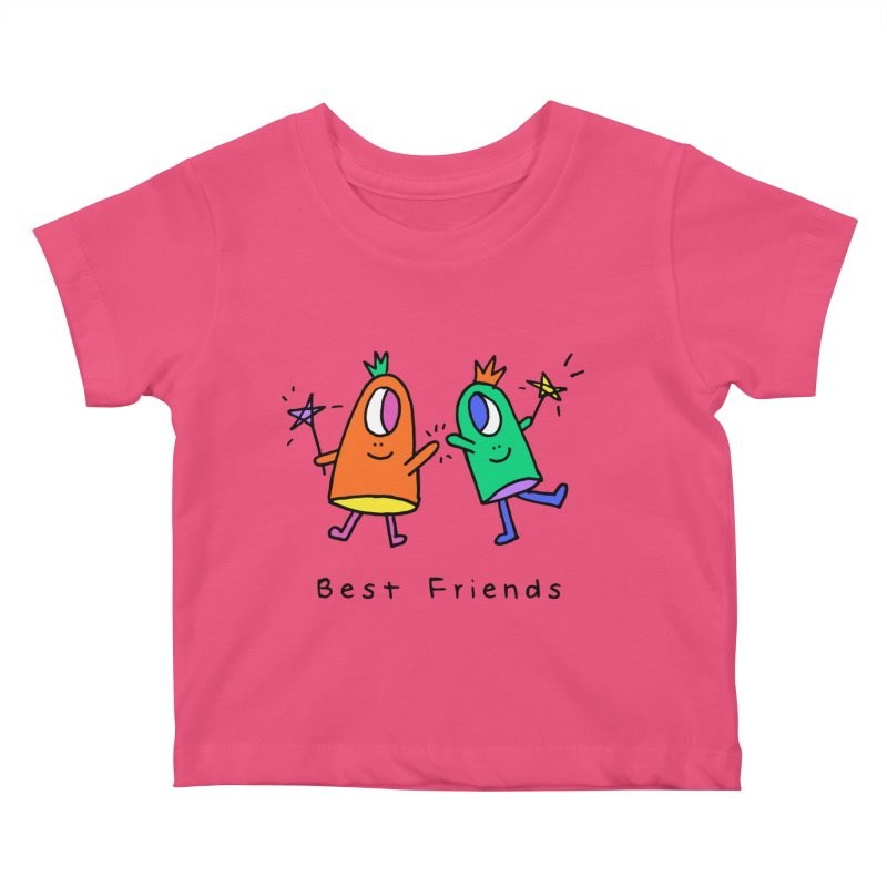 Best Friends Kids Baby T-Shirt by Shelby Works