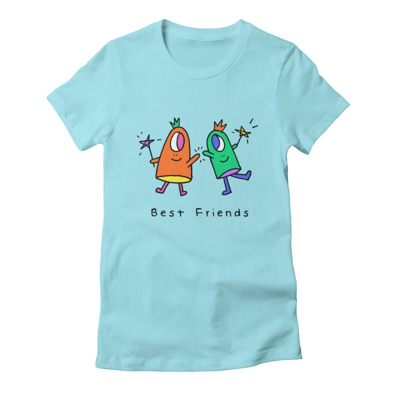 Best Friends Women's Fitted T-Shirt by Shelby Works