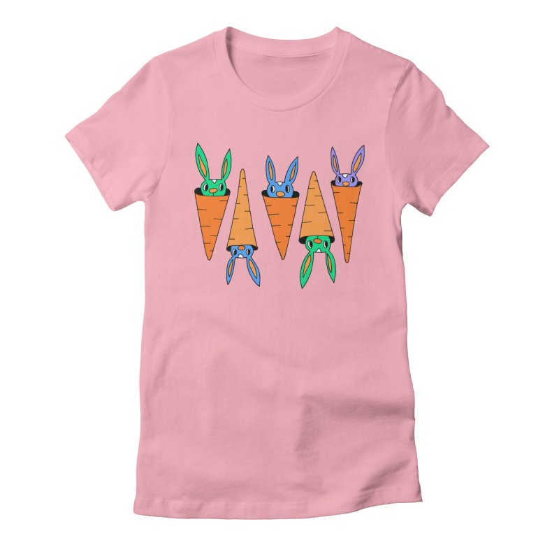 Carrot Friends Women's Fitted T-Shirt by Shelby Works