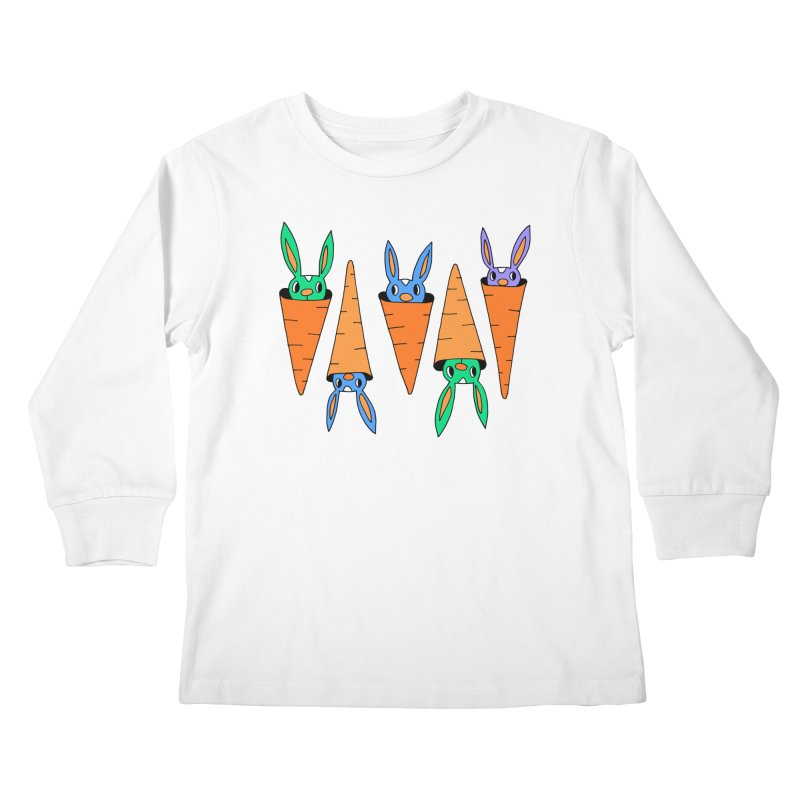 Carrot Friends Kids Longsleeve T-Shirt by Shelby Works