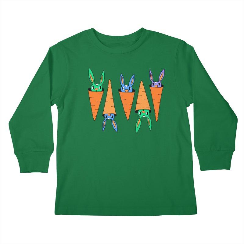 Carrot Friends Kids Longsleeve T-Shirt by Shelby Works