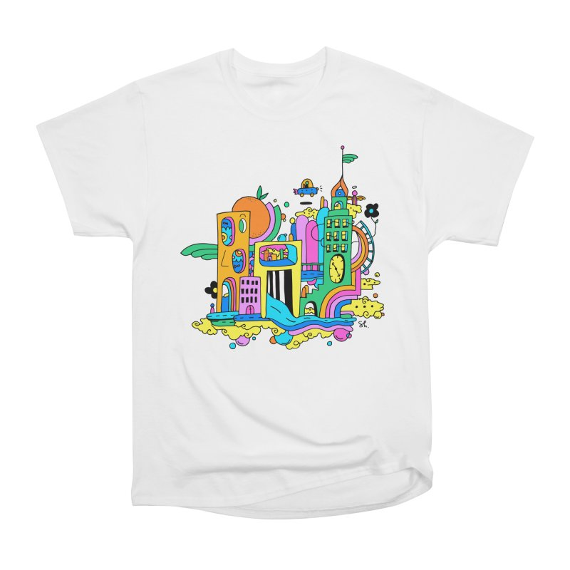 Pocket City Men's Heavyweight T-Shirt by Shelby Works