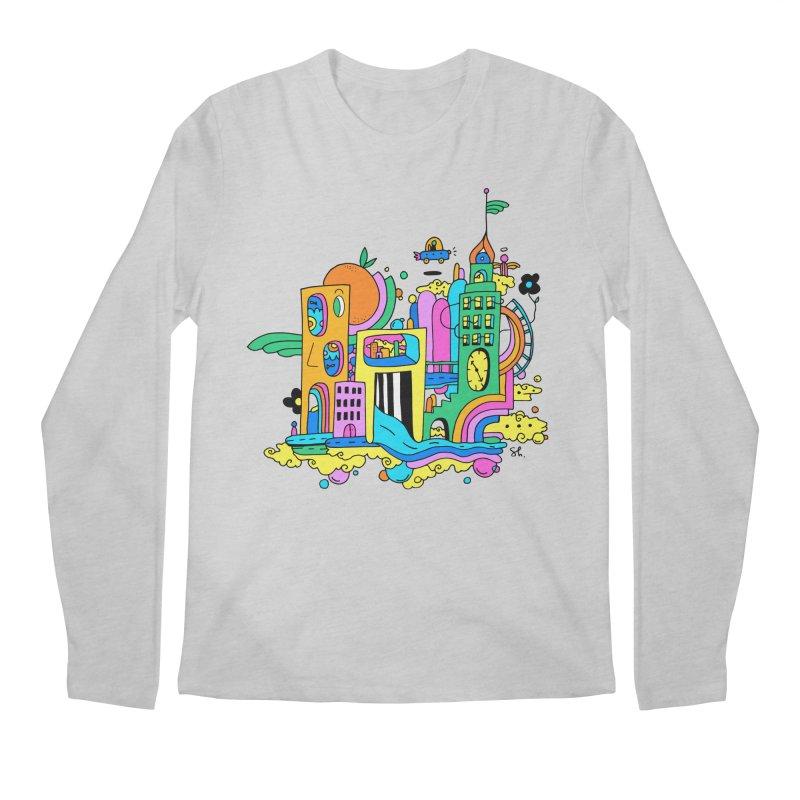 Pocket City Men's Regular Longsleeve T-Shirt by Shelby Works