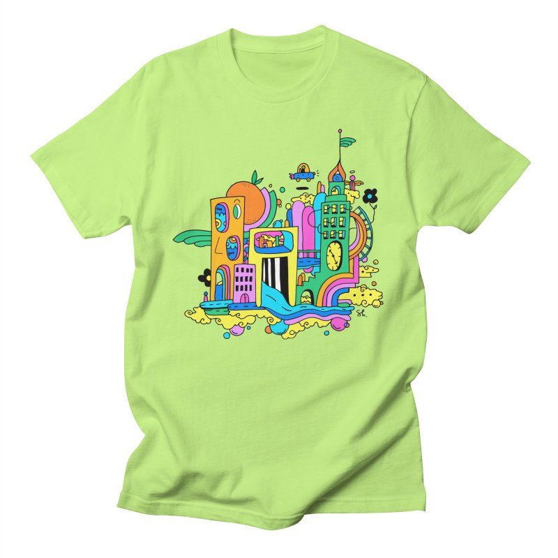 Pocket City Women's Regular Unisex T-Shirt by Shelby Works