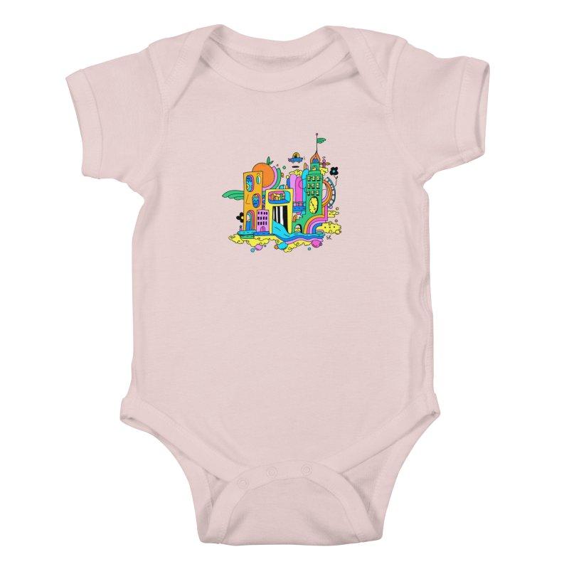 Pocket City Kids Baby Bodysuit by Shelby Works