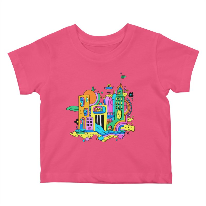 Pocket City Kids Baby T-Shirt by Shelby Works
