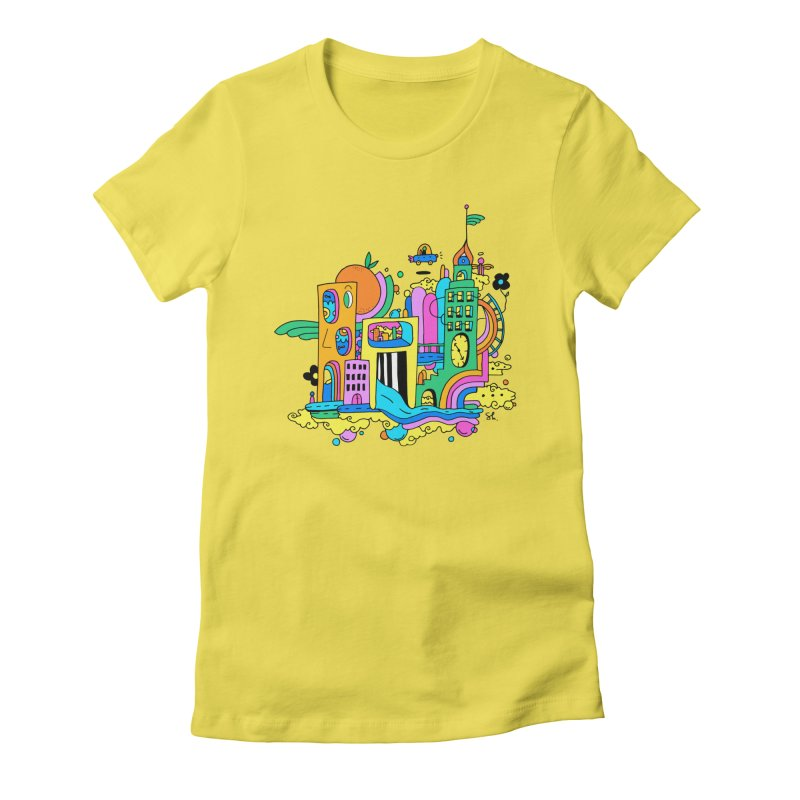 Pocket City Women's Fitted T-Shirt by Shelby Works