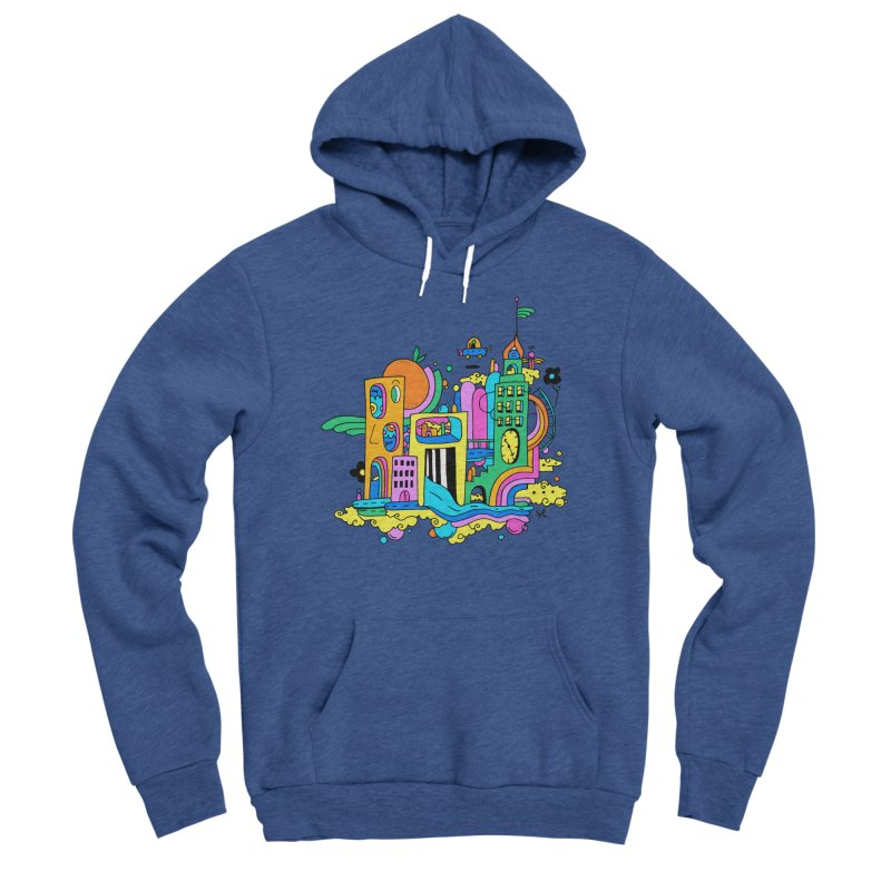 Pocket City Men's Sponge Fleece Pullover Hoody by Shelby Works