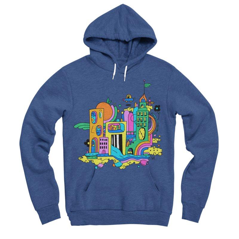 Pocket City Men's Sponge Fleece Pullover Hoody by Shelby Works