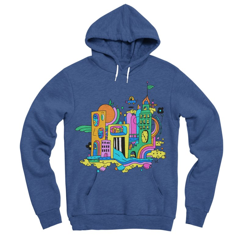 Pocket City Women's Sponge Fleece Pullover Hoody by Shelby Works