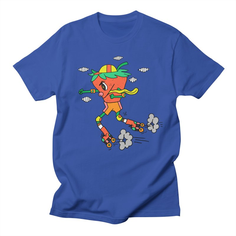 Edgy Strawberry Kid Women's Regular Unisex T-Shirt by Shelby Works