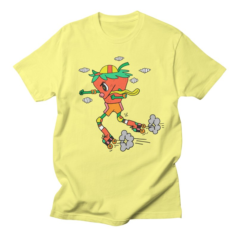 Edgy Strawberry Kid Men's Regular T-Shirt by Shelby Works