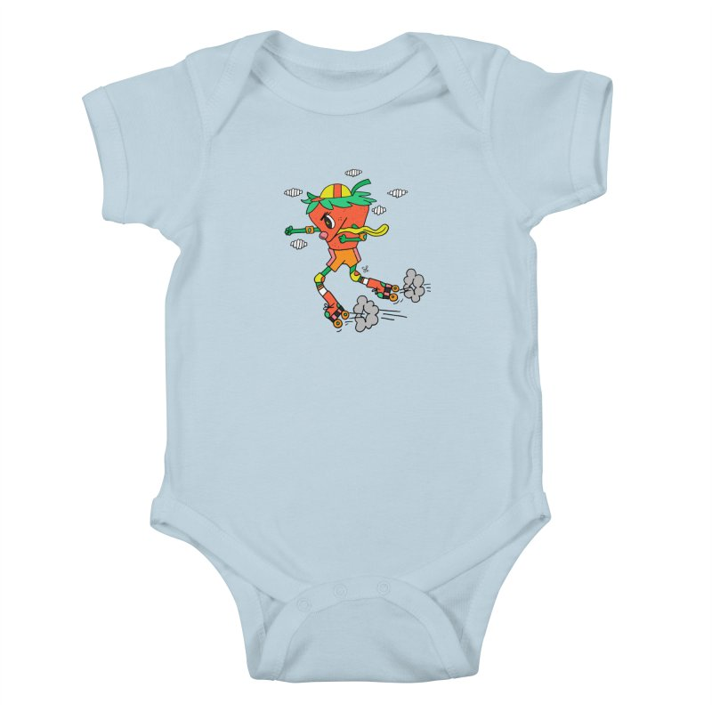 Edgy Strawberry Kid Kids Baby Bodysuit by Shelby Works