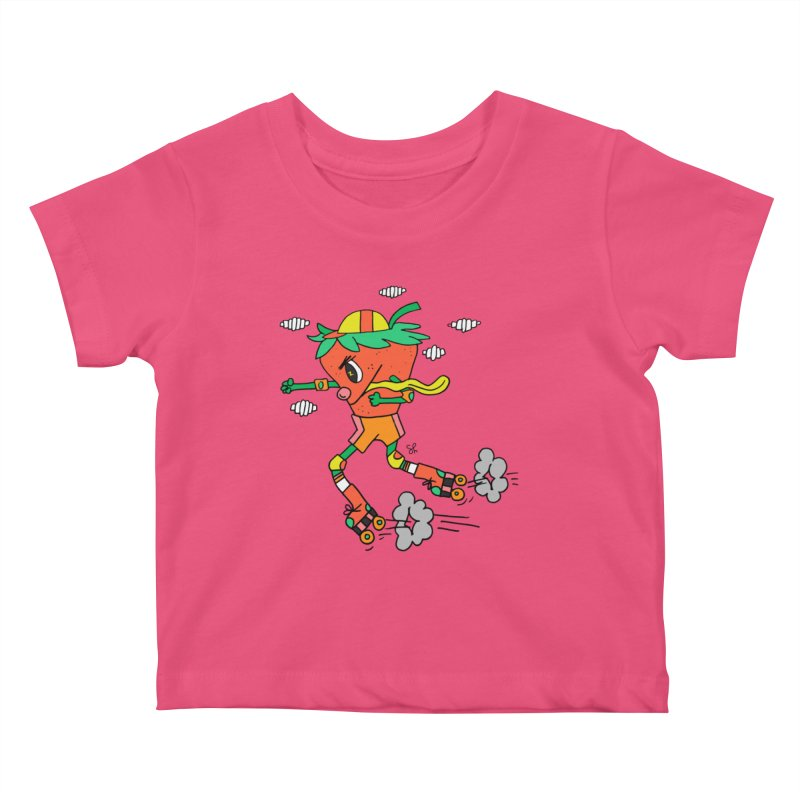 Edgy Strawberry Kid Kids Baby T-Shirt by Shelby Works