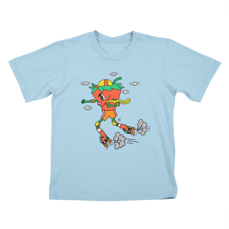 Edgy Strawberry Kid Kids T-Shirt by Shelby Works