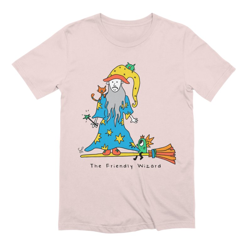 The Friendly Wizard Men's Extra Soft T-Shirt by Shelby Works