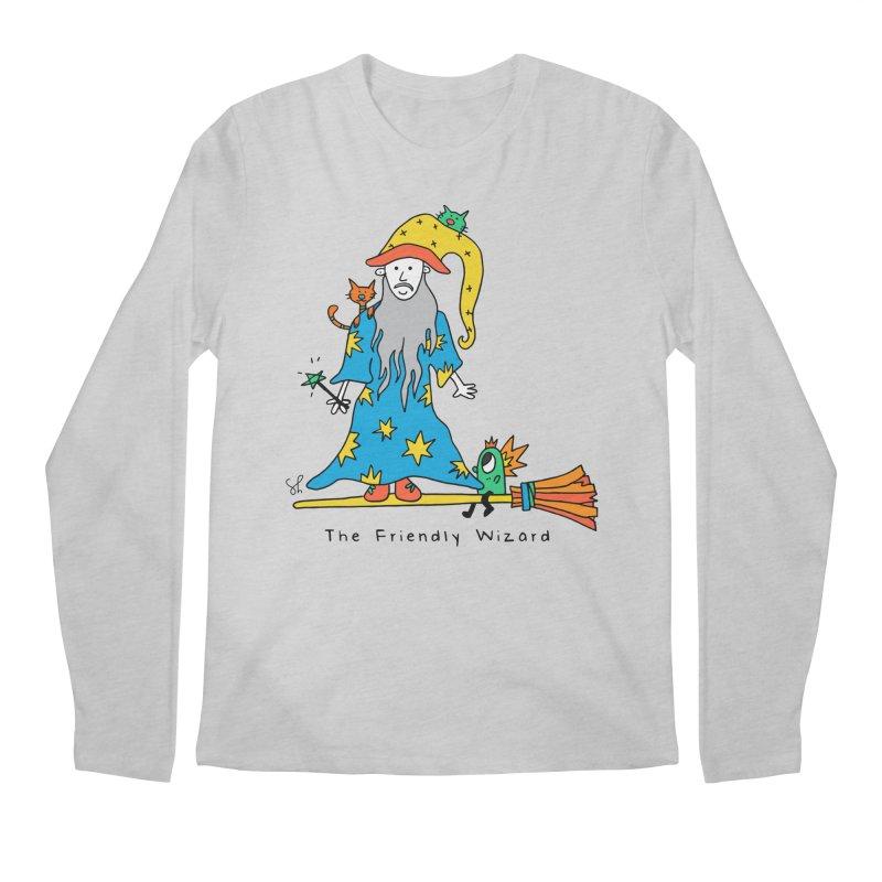 The Friendly Wizard Men's Regular Longsleeve T-Shirt by Shelby Works