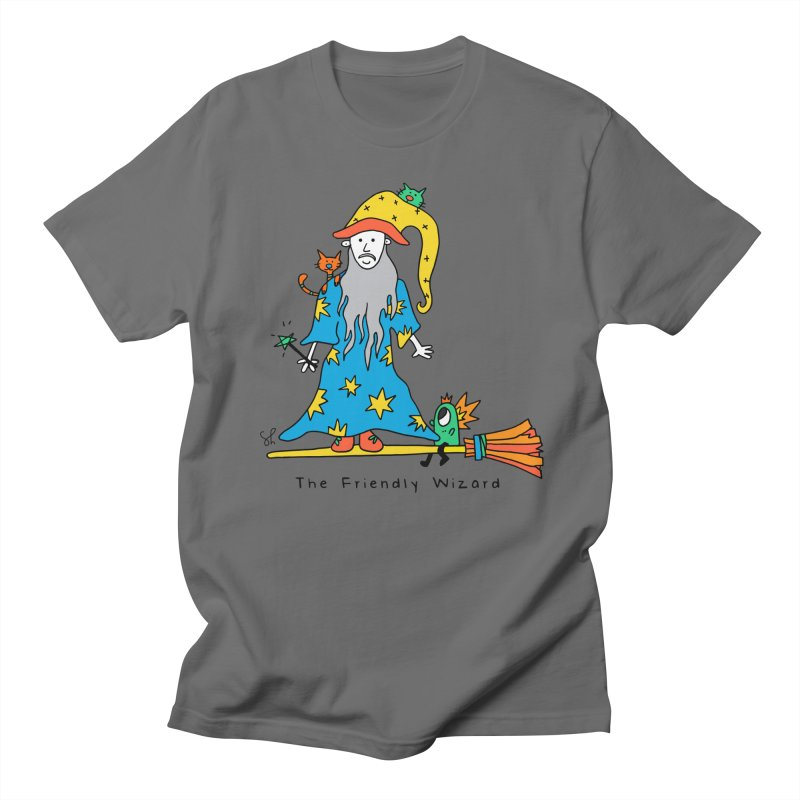 The Friendly Wizard Women's Regular Unisex T-Shirt by Shelby Works