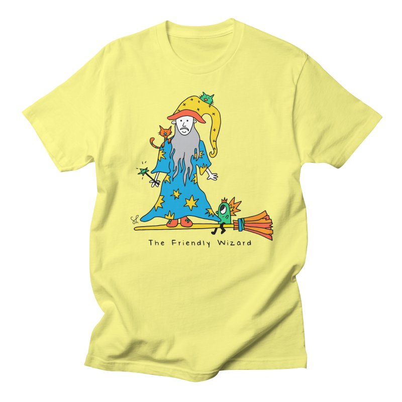The Friendly Wizard Men's Regular T-Shirt by Shelby Works