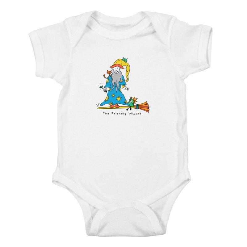 The Friendly Wizard Kids Baby Bodysuit by Shelby Works