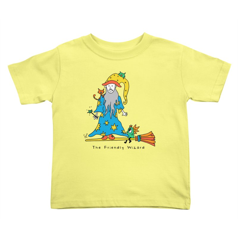 The Friendly Wizard Kids Toddler T-Shirt by Shelby Works