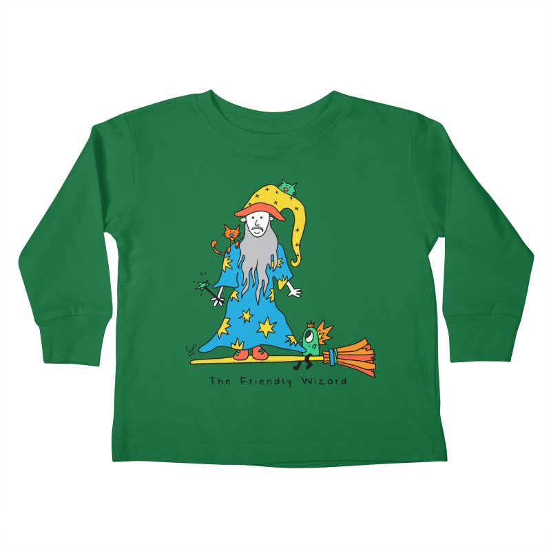 The Friendly Wizard Kids Toddler Longsleeve T-Shirt by Shelby Works