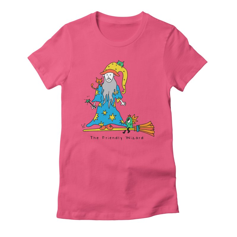 The Friendly Wizard Women's Fitted T-Shirt by Shelby Works
