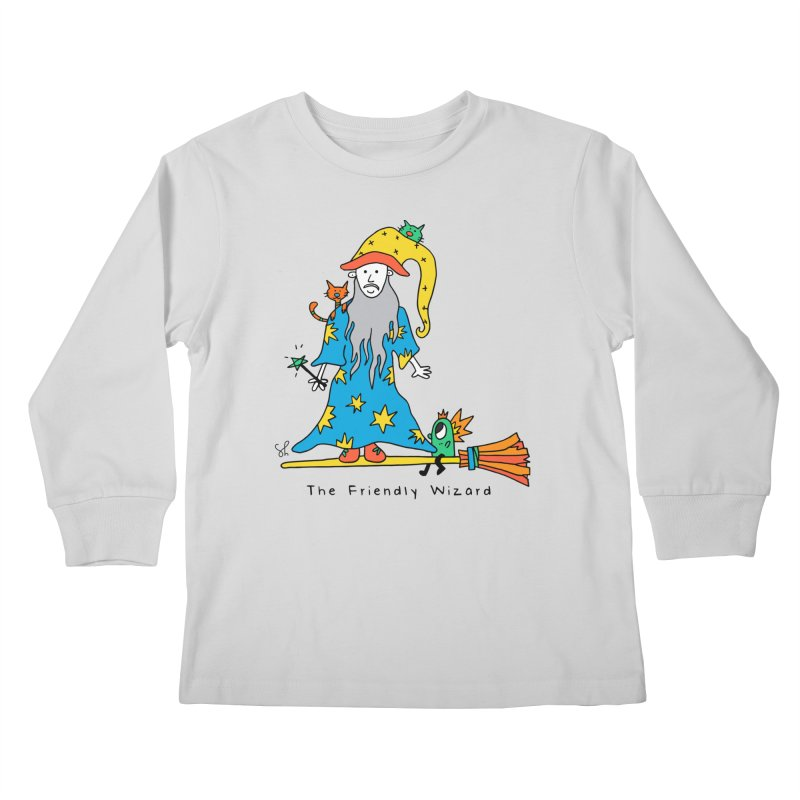 The Friendly Wizard Kids Longsleeve T-Shirt by Shelby Works