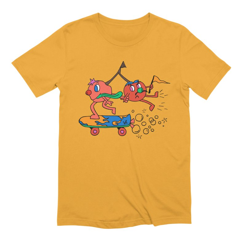 Cherries on the Run Men's Extra Soft T-Shirt by Shelby Works