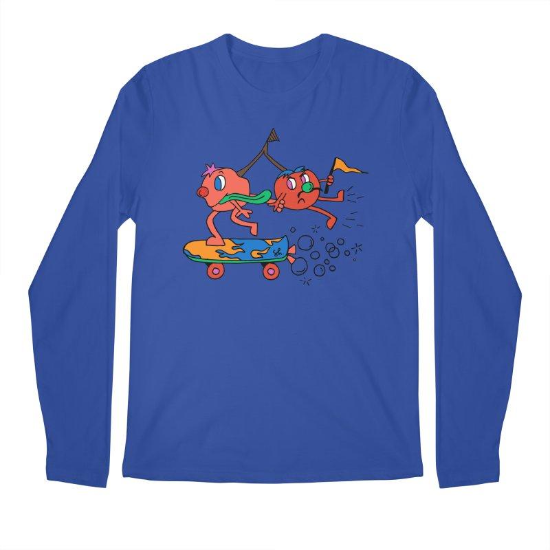 Cherries on the Run Men's Regular Longsleeve T-Shirt by Shelby Works