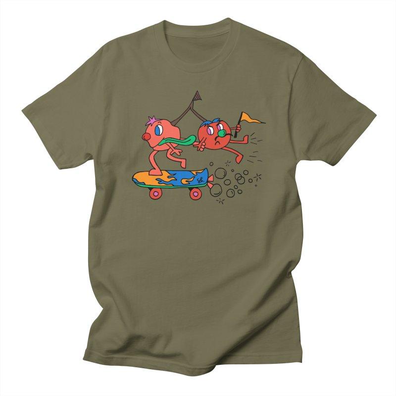 Cherries on the Run Women's Regular Unisex T-Shirt by Shelby Works