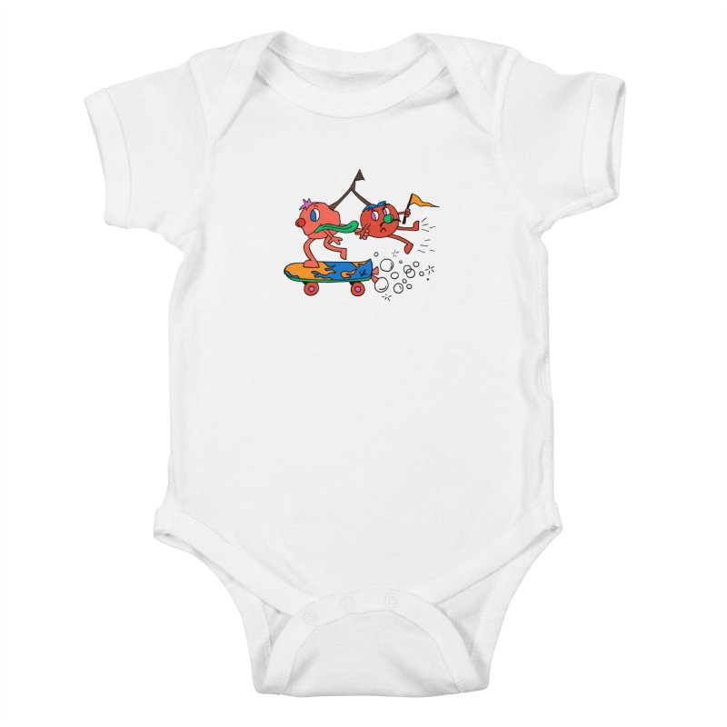 Cherries on the Run Kids Baby Bodysuit by Shelby Works