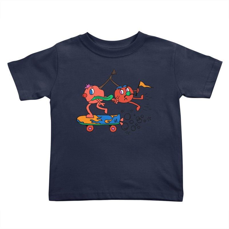 Cherries on the Run Kids Toddler T-Shirt by Shelby Works