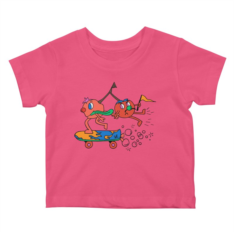 Cherries on the Run Kids Baby T-Shirt by Shelby Works