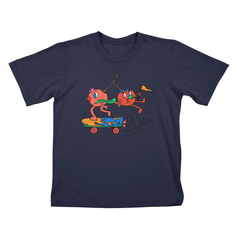 Cherries on the Run Kids T-Shirt by Shelby Works