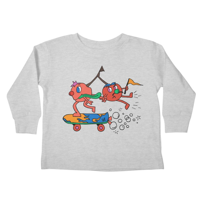 Cherries on the Run Kids Toddler Longsleeve T-Shirt by Shelby Works