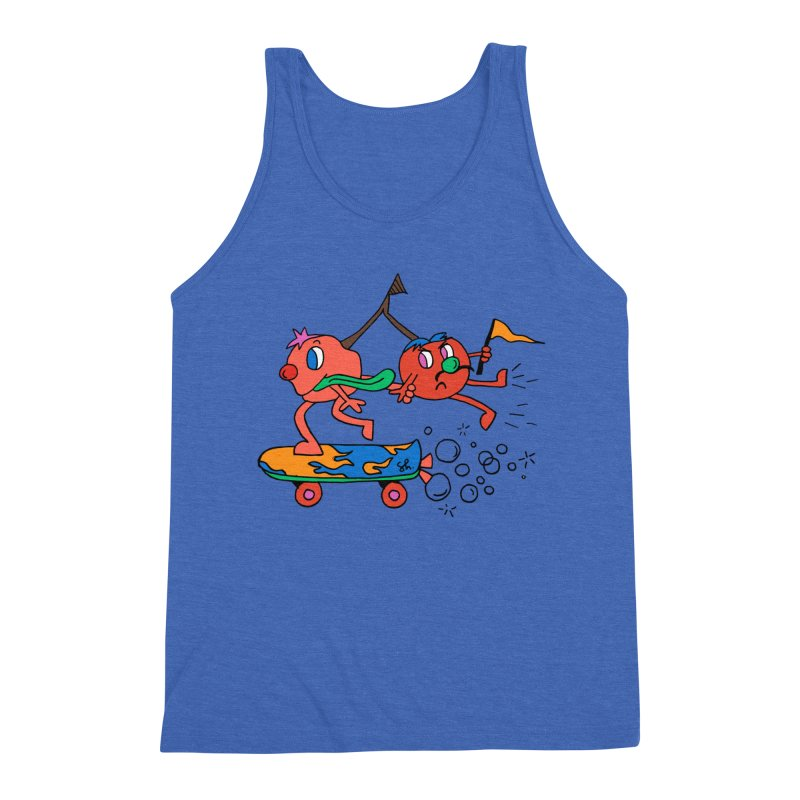 Cherries on the Run Men's Triblend Tank by Shelby Works