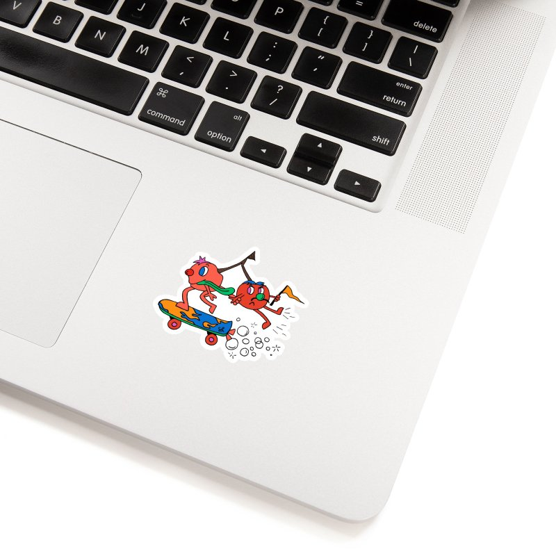 Cherries on the Run Accessories Sticker by Shelby Works