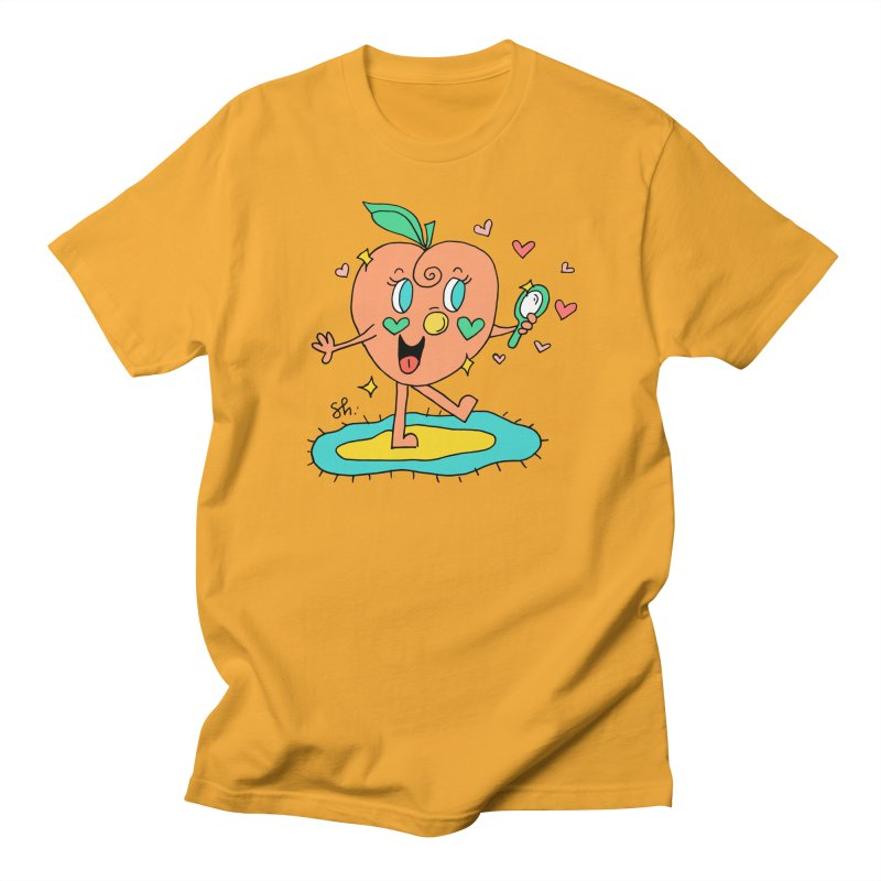 Peaches' Morning Routine Women's Regular Unisex T-Shirt by Shelby Works