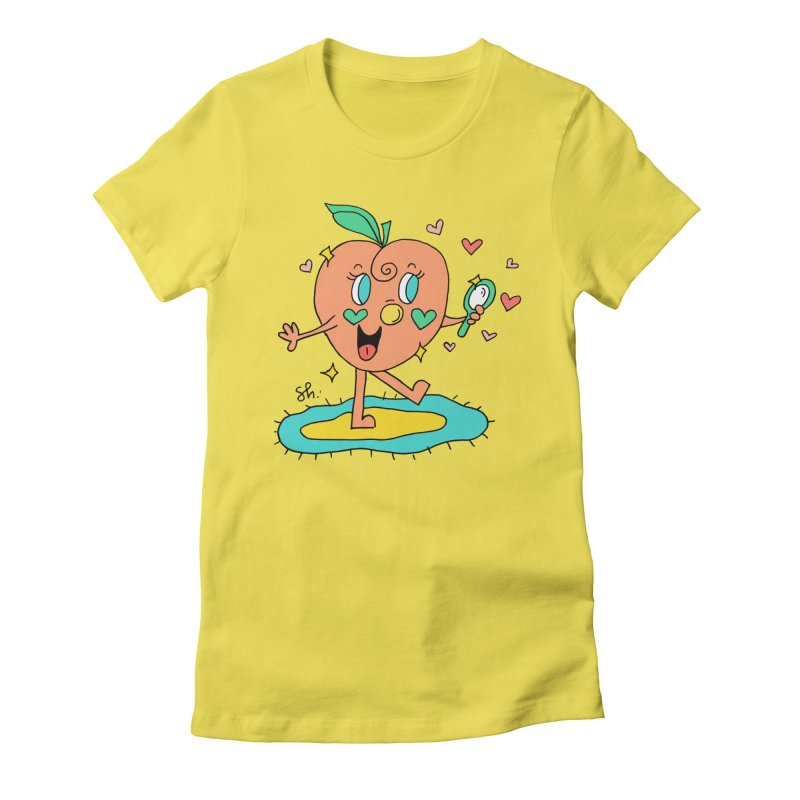 Peaches' Morning Routine Women's T-Shirt by Shelby Works